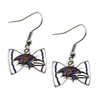 Baltimore Ravens NFL Bow Tie Earring Dangle