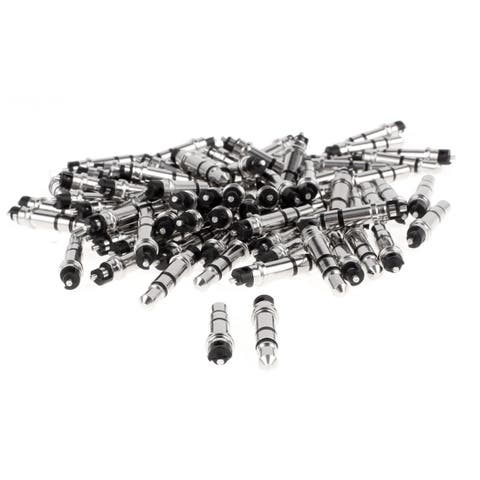 3.5mm Stereo Male Plug Audio Headphone Earphone Jack Connector Black 80pcs