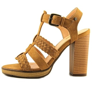 XOXO Womens Kurt Open Toe Ankle Strap Platform Pumps