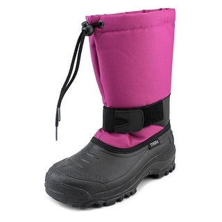Tundra Montana Youth Round Toe Synthetic Pink Snow Boot