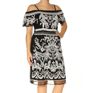 I-N-C Womens Cold-shoulder Sheath Dress
