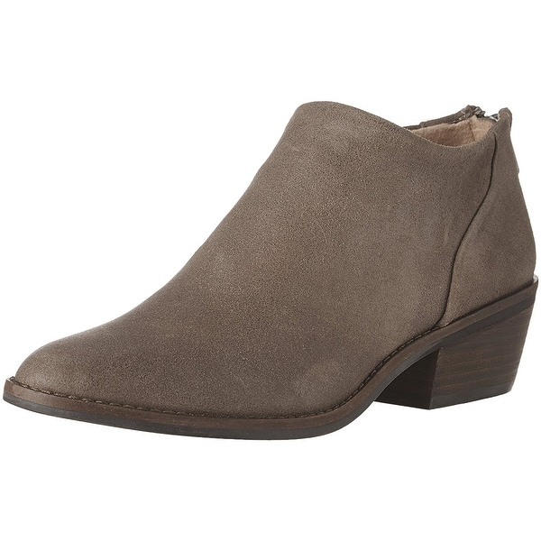 Lucky Brand Womens FAI Leather Almond Toe Ankle Fashion Boots
