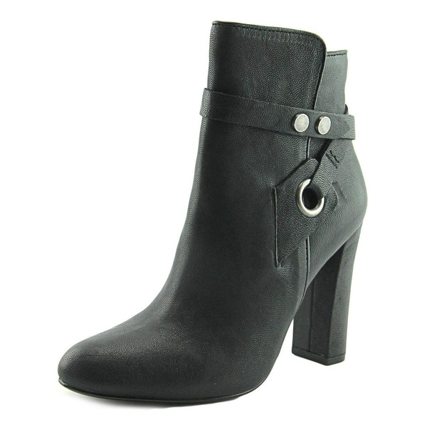 Design Lab Lord & Taylor Shea Round Toe Leather Ankle Boot