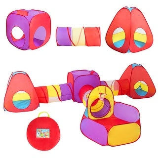 Costway 7pc Kids Ball Pit Play Tents & Tunnels Pop Up Baby Toy Gifts - See Details