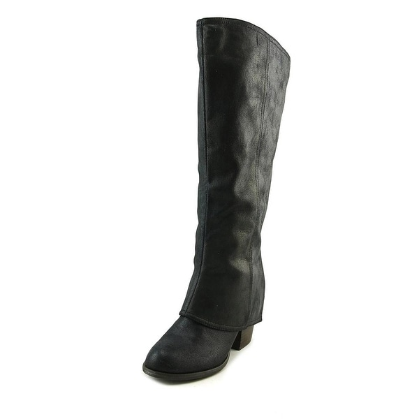 Fergalicious Lundry Wide Calf Women Round Toe Synthetic Black Knee High Boot