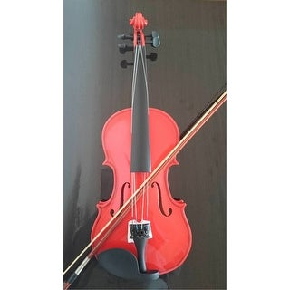 Student Acoustic Violin Size 4/4 Maple Spruce with Case Bow Rosin Red Color
