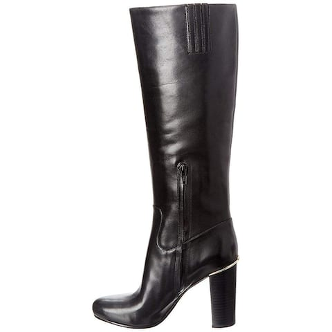 df55d76a2b43 Michael Michael Kors Womens Janice Leather Round Toe Knee High Fashion Boots