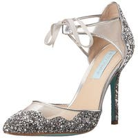 Betsey Johnson Womens Stela Pointed Toe Ankle Strap D-orsay Pumps