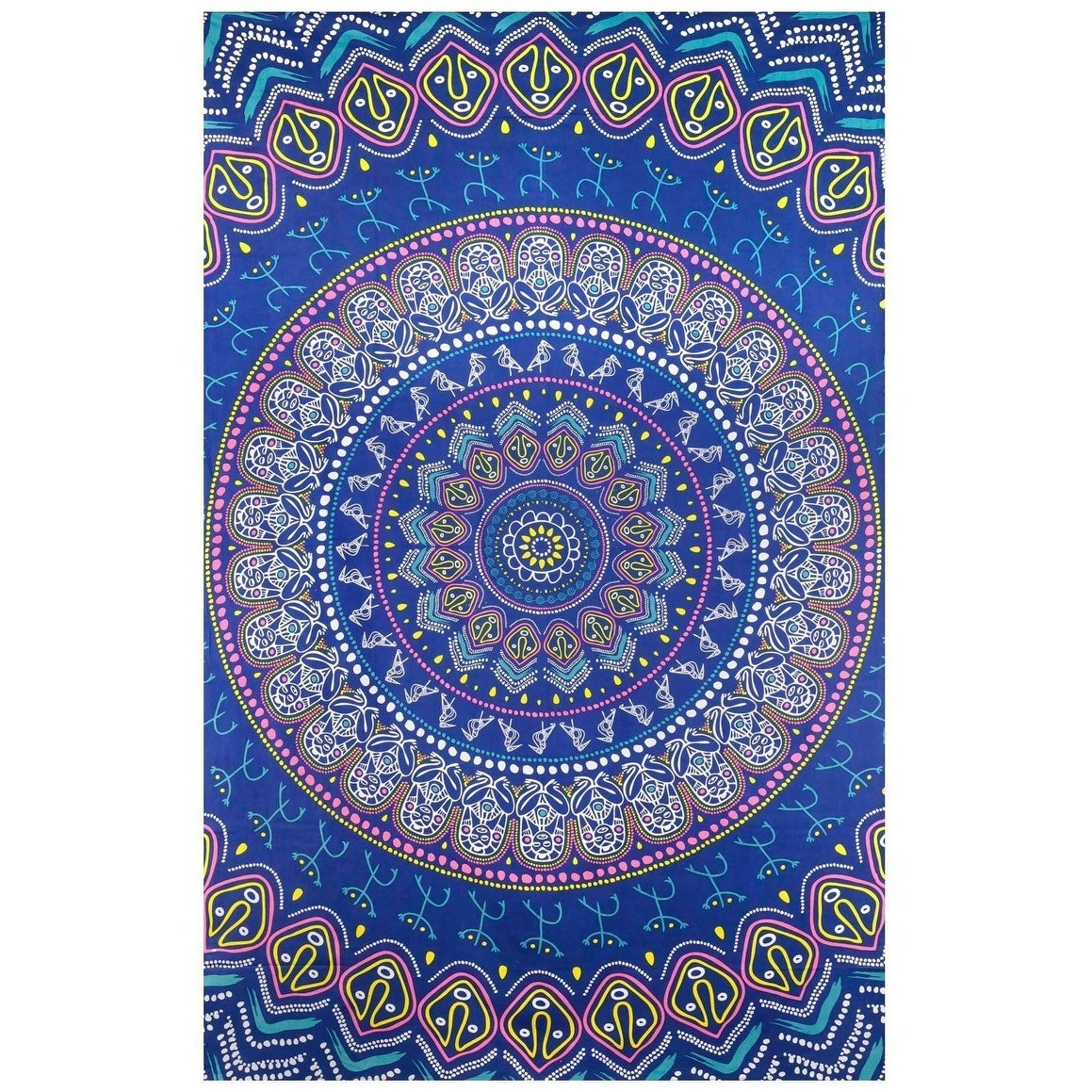"""100/% Cotton Twin Hippie Handcrafted 60X90/"""" Indian Tapestry Hanging Bedroom Decor"""