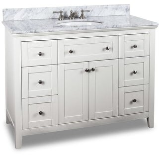 Jeffrey Alexander VAN105-48-T 48 Inch Single Free Standing Vanity Set with Hardwood Cabinet