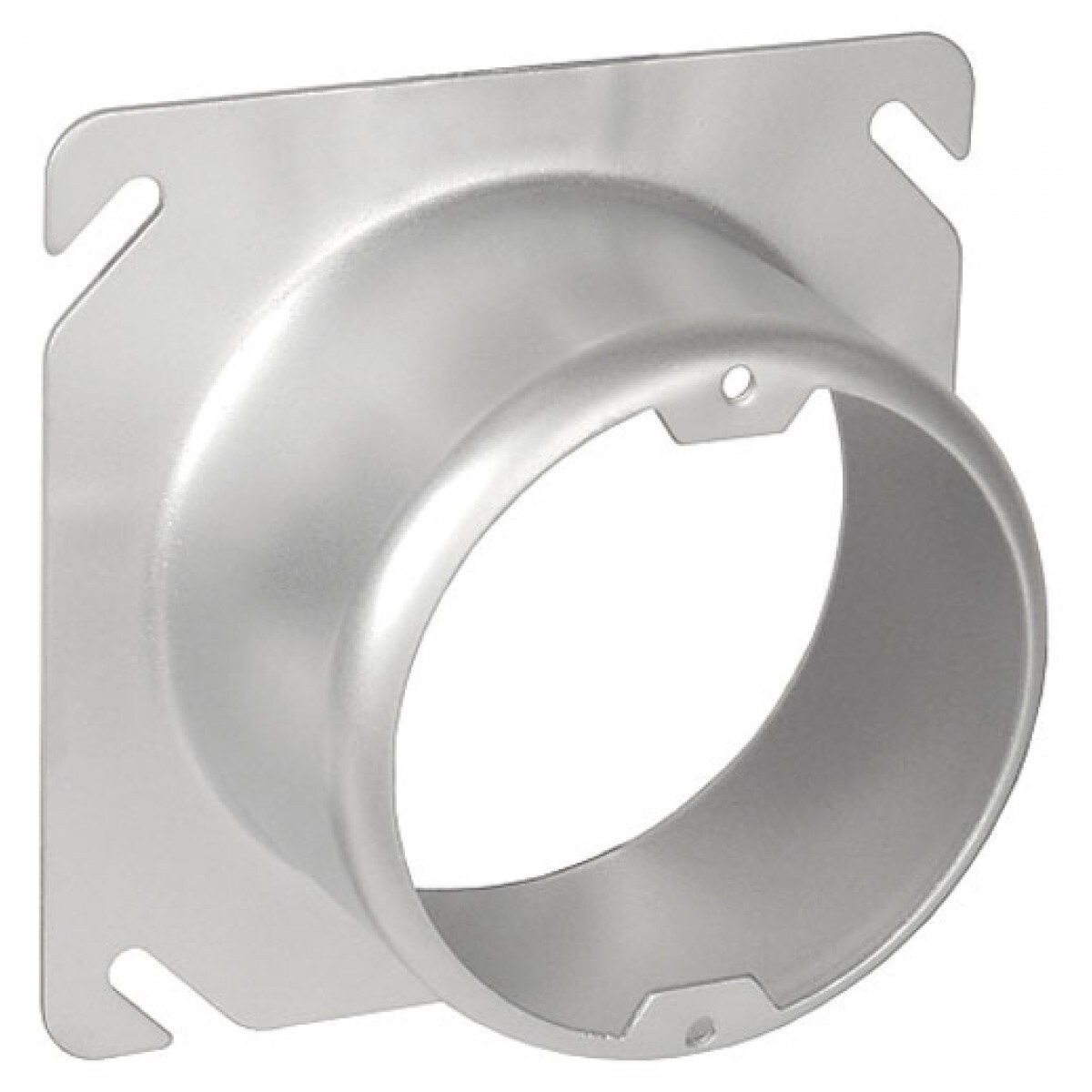 1 Pc, 4 Square to Round Device Ring, 2 in. Raised, .0625 Galvanized Steel