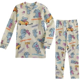 Children's Elephant and Piggie Pajamas - Sleep Shirt and Pants Set
