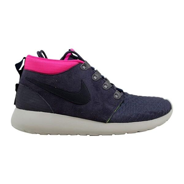 ea11860fdc8a9 Nike Roshe Run Sneakerboot Gridiron Dark Obsidian-Pink Floral-Volt Men  x27