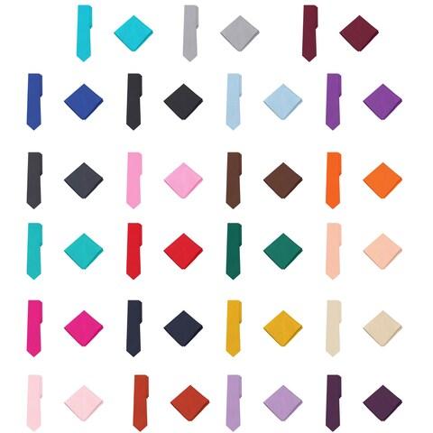 Jacob Alexander Polka Dot Print Boys Regular Tie Pocket Square Set