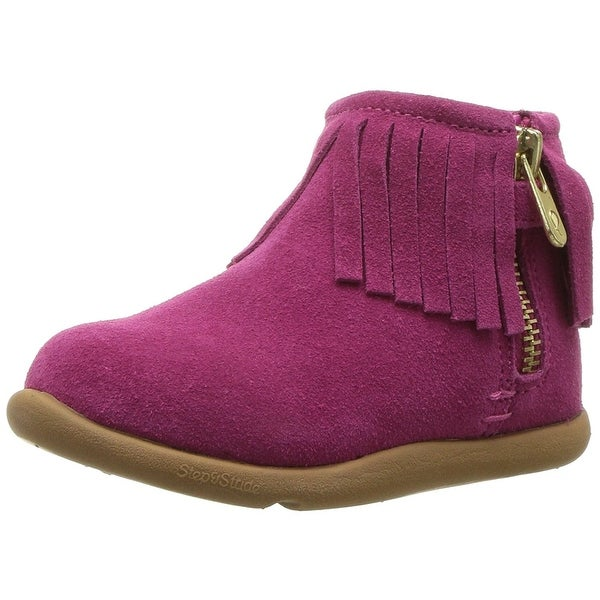 Step & Stride Baby Taille Fabric Zipper Ankle High Boots
