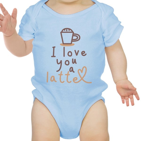 Love A Latte Infant Bodysuit Gift Sky Blue