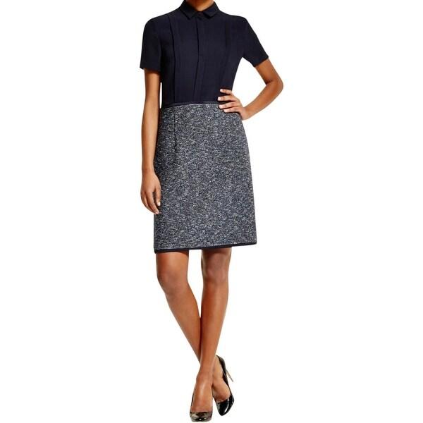 a72441b24 Shop BOSS Hugo Boss Womens Hareila Wear to Work Dress Textured Mixed Media  - Free Shipping Today - Overstock - 16001737