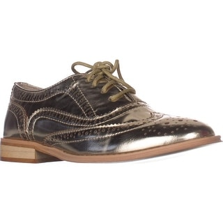 Wanted Babe Lace Up Oxfords - Gold