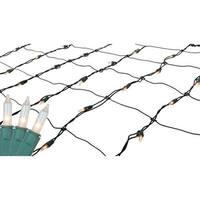 2' x 8' Clear Twinkling Mini Christmas Net Style Tree Trunk Wrap Lights - Green Wire