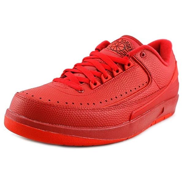 Jordan Air Jordan 2 Retro Low Men Round Toe Synthetic Red Sneakers