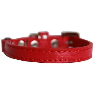Premium Plain Cat safety collar Red Size 12