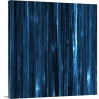 Premium Thick-Wrap Canvas entitled Abstract vertical striated pattern in blue - Multi-color