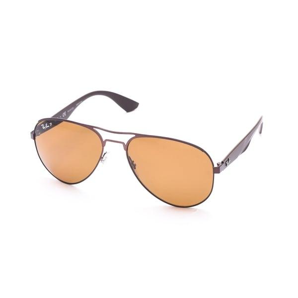 9305e882fb Shop Ray-Ban Polarized Aviator Sunglasses Copper - Brown - Small - Free  Shipping Today - Overstock.com - 12300787