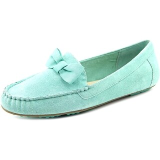 Isaac Mizrahi Ashlee Women W Round Toe Suede Blue Loafer