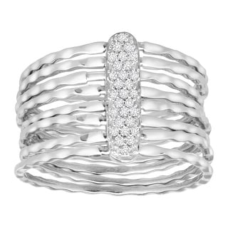 1/8 ct Diamond Stackable Ring in Sterling Silver