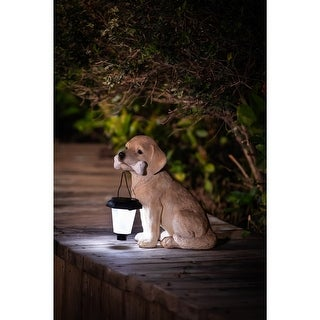 Link to Polyresin Puppy with Solar Light Garden Statue Similar Items in Outdoor Decor