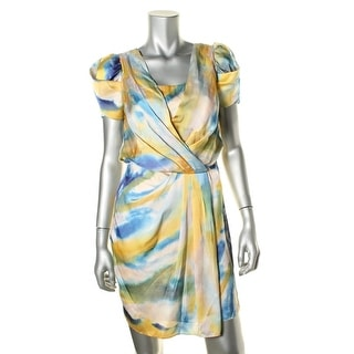 Vince Camuto Womens Satin Short Sleeves Cocktail Dress - 2