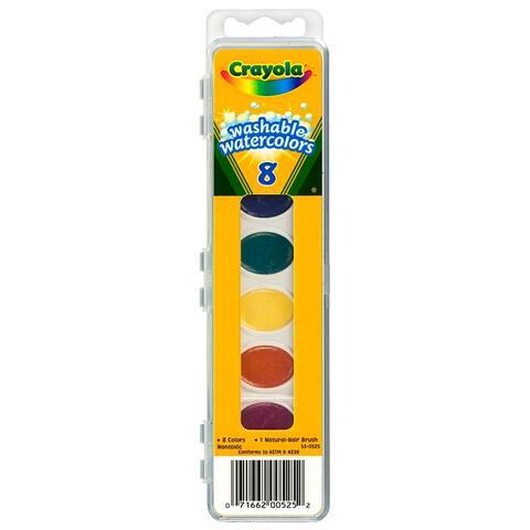 Washable Watercolors 8 W/Brush