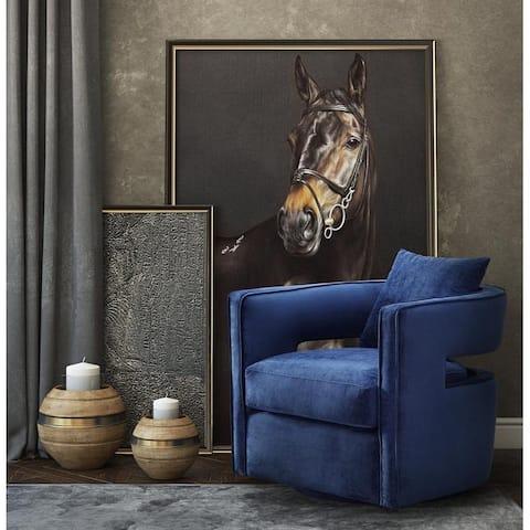 Kennedy Velvet Swivel Chair