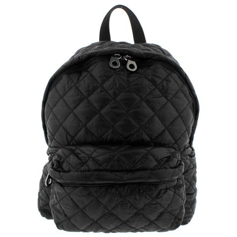 Urban Expressions Womens Backpack Quilted Vegan Leather Trim - O/S