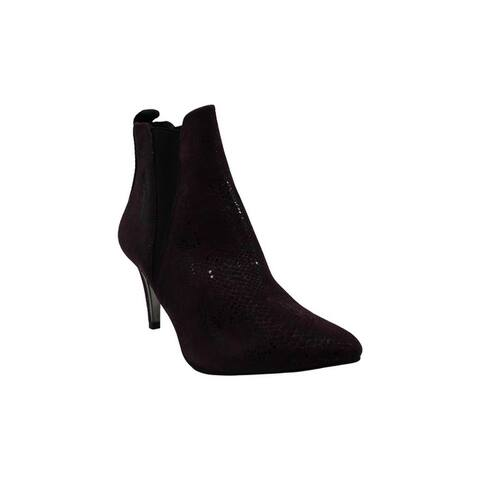 DKNY Womens Alani Suede Closed Toe Ankle Fashion Boots