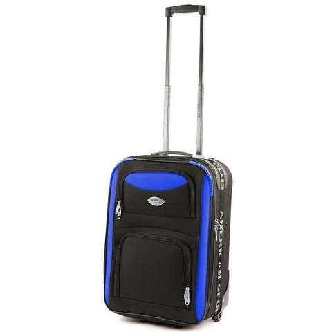 American Sport Plus Duo 20 in. Carry-On Expandable Rolling Suitcase