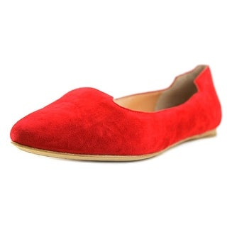 Sigerson Morrison VIVIE Women Pointed Toe Suede Red Flats