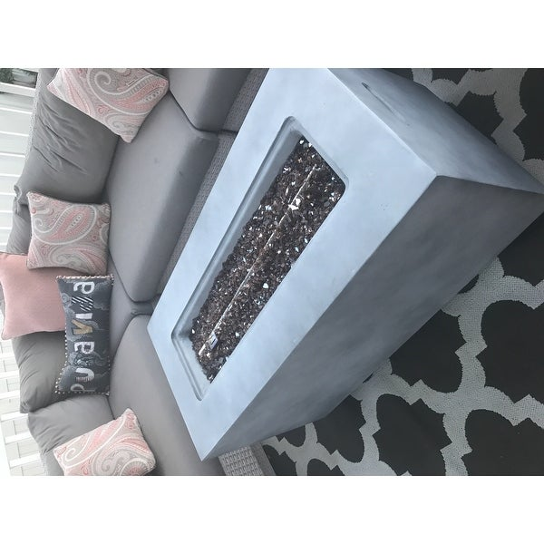 Top Product Reviews For Vista Gray Rectangular Propane Fire Pit With Lava Rocks 20662387 Overstock