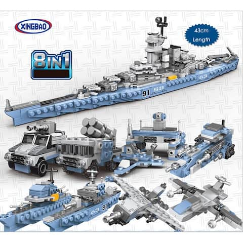 "XINGBAO 13004 USS Missouri 8 in 1 Building Block with Original Box - 7'6"" x 9'6"""