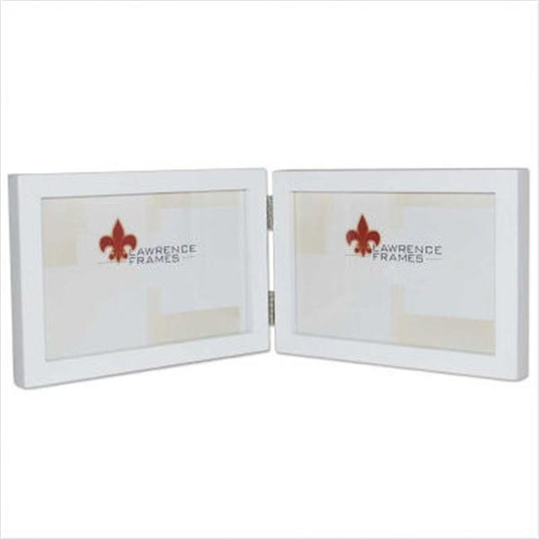 Shop 5x7 Hinged Double Horizontal White Wood Picture Frame