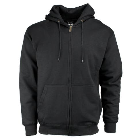 River's End Full Zip Hoodie Mens Athletic Hoodie Pullover - Black