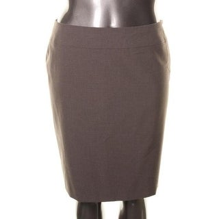 Tahari ASL Womens Mike Heathered Knee-Length Pencil Skirt - 16