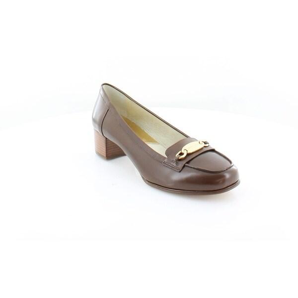 56123f8e604 Shop Michael Kors Lainy Loafers Women s Heels Dk Caramel - 8 - Free ...
