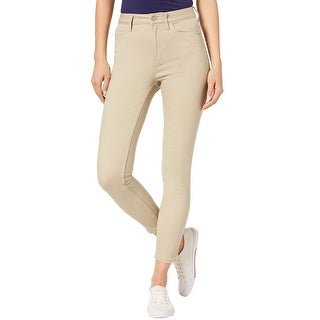 Calvin Klein Jeans Ladies High Rise Straight Jeans 30 Taupe Coffee Color