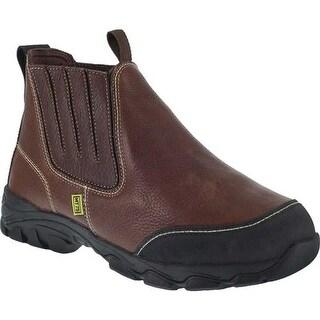 Iron Age Men's Galvanizer Chelsea Steel Toe Work Boot Brown Full Grain Leather/Kevlar