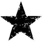 """Tim Holtz Mounted Red Rubber Stamp 1.5""""X1.5""""-Star Silhouette"""