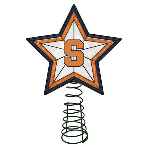 "10"" Lighted White Star NCAA Syracuse Orange Christmas Tree Topper - N/A"