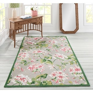 Link to Madcap Cottage by Momeni Summer Garden Isleboro Eve Grey Area Rug Similar Items in Farmhouse Rugs