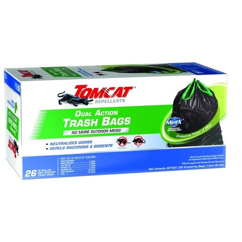 Tomcat 0492826 Rodent Repellent Trash Bag, 26 Gallon
