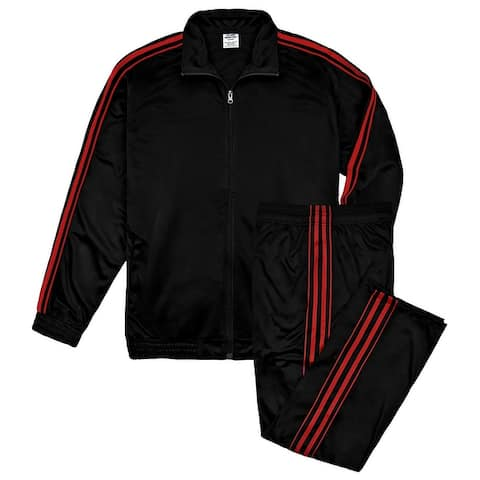 Victory Outfitters Men's Athletic Tricot Track Jacket and Matching Pants Set
